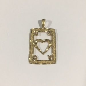 14k Yellow Gold Heart ❤️ Pendant